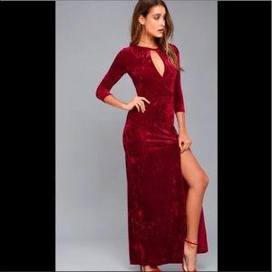 Lulu's Velvet Red Dress